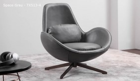 Skal Faux Leather Swivel Armchair
