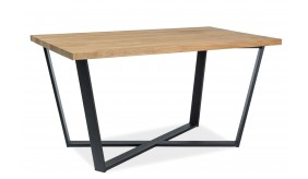 Fjord Oak 180 Black Dining Table