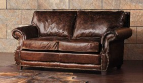 Tankerville Antique Leather - 2 Seater Sofa