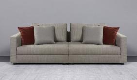 Tonini Fabric 4 Seater Sofa