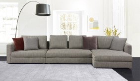 Tonini Fabric Large L Shape Sofa