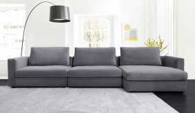 Tonini L Shape Velvet Sofa