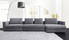 Tonini Large L Shape Velvet Sofa