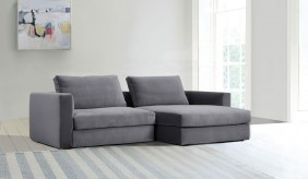 Tonini Small L Shape Velvet Sofa
