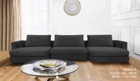 Tonini U-Shape Velvet Sofa