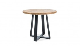 Torbas Round Oak Dining Table Ø90