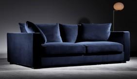 Violin 3 Seater Velvet Sofa