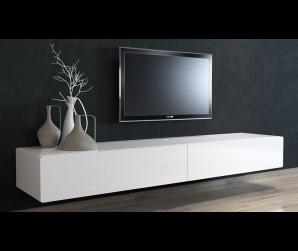 Ikon Matte Black Floating TV Unit - 220cm - Custom