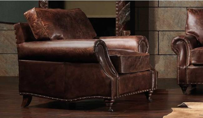 Burlington antique Leather Armchair- Luxury - Delux Deco