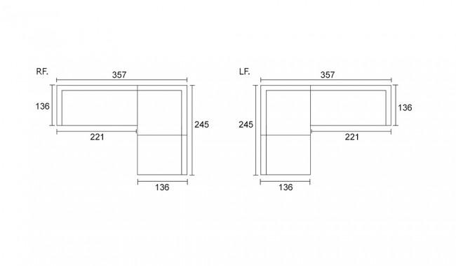 Vito Modular Sofa With L Shape Option Modern Design Delux Deco Uk