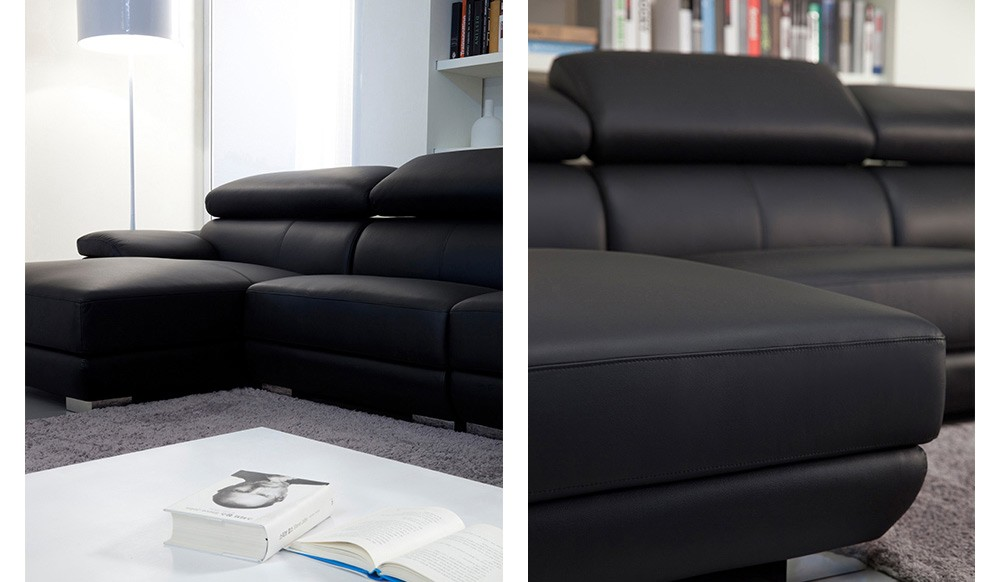 Vinelli Leather Modular Sofa top grain